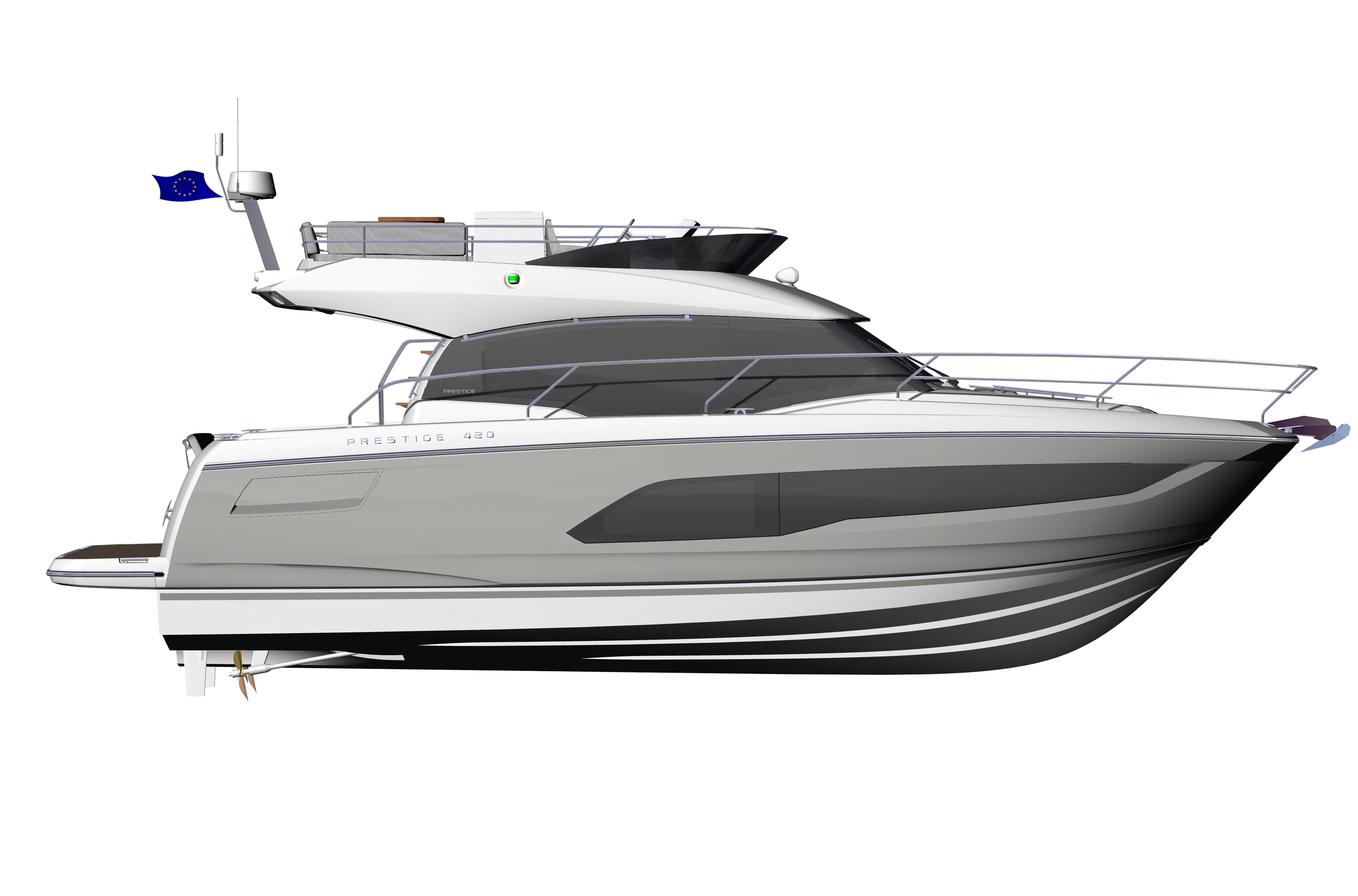 PRESTIGE-420---Profil---Grey-hull-